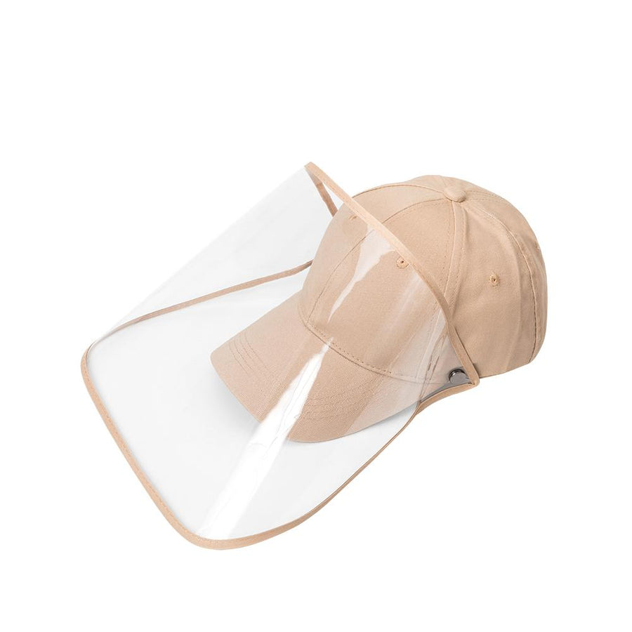 Tan Baseball Cap Face Shield - FINAL SALE