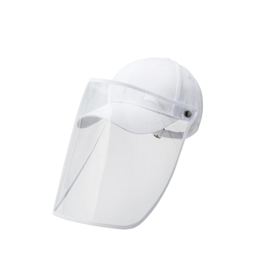 White Baseball Cap Face Shield - FINAL SALE