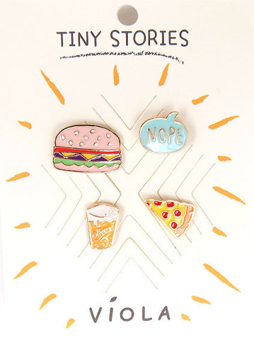 Foodie Metal Pin Set