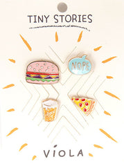 Foodie Metal Pin Set - Melie Bianco