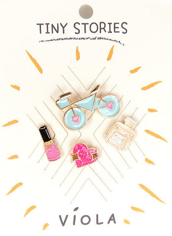 Pretty Things Metal Pin Set - Melie Bianco