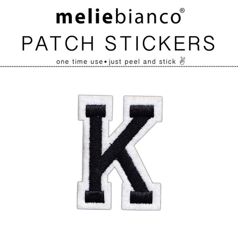 K Varsity Letter Sticker Patch - Melie Bianco