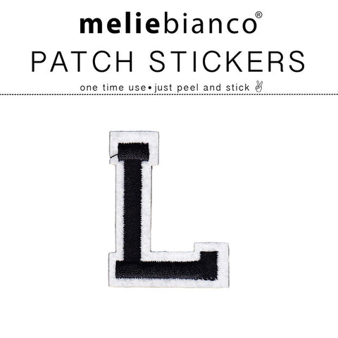 L Varsity Letter Sticker Patch - Melie Bianco