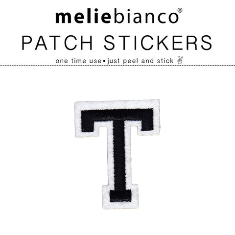 T Varsity Letter Sticker Patch - Melie Bianco