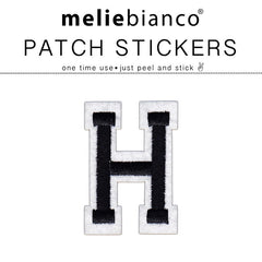 H Varsity Letter Sticker Patch - Melie Bianco