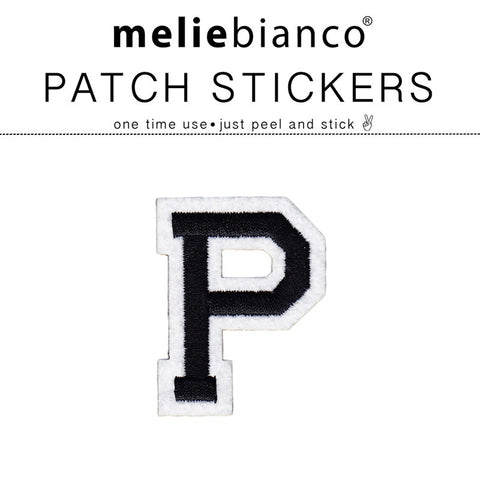 P Varsity Letter Sticker Patch - Melie Bianco