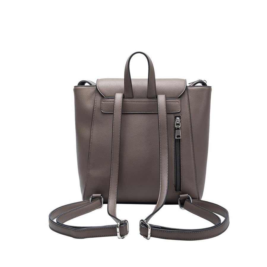 Melie Bianco Adrianne Luxury Vegan Leather Backpack in Taupe