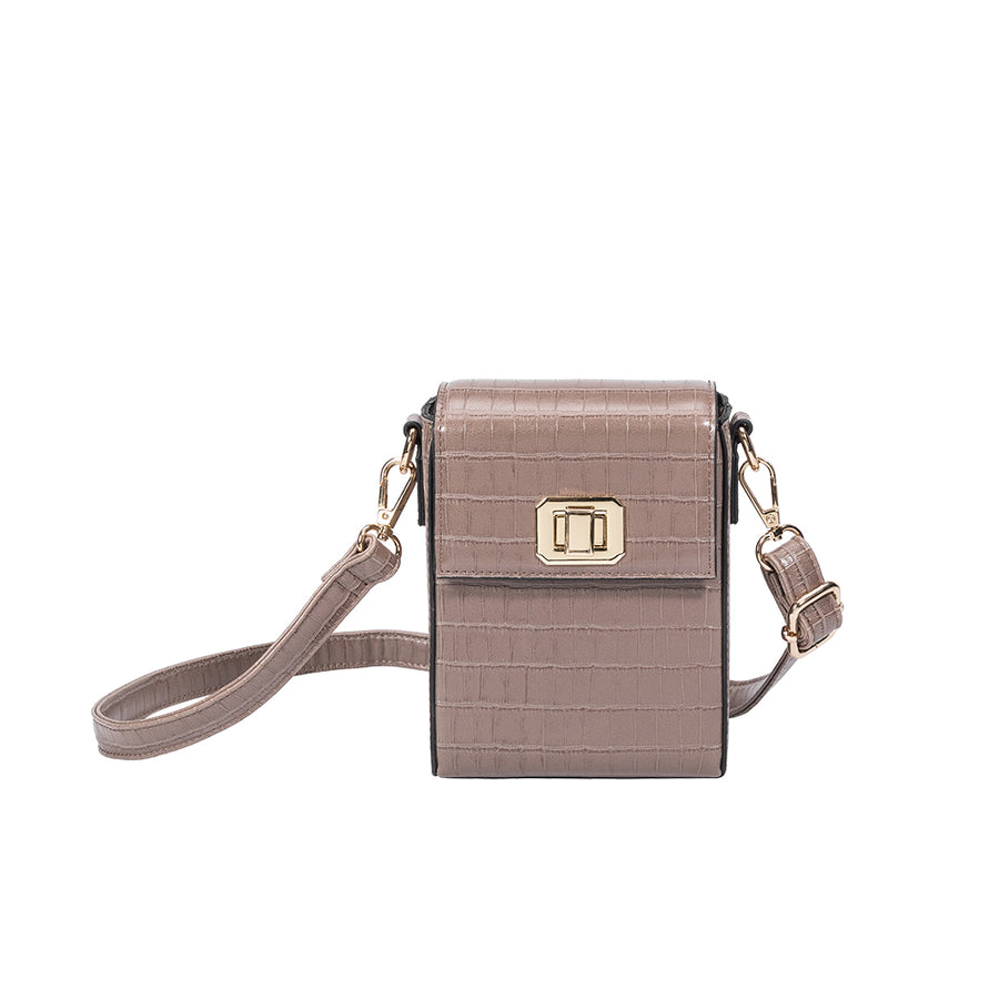 Carly Taupe Crossbody