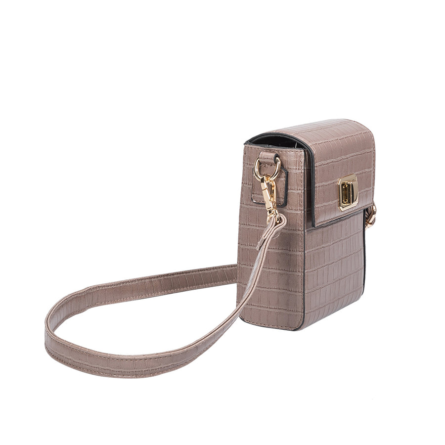Carly Taupe Crossbody (4177097654323)