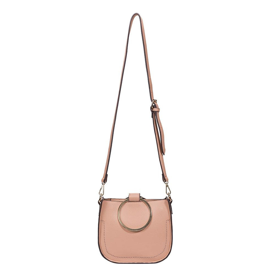 Melie Bianco Luxury Vegan Leather Terry Top Handle Bag in Blush
