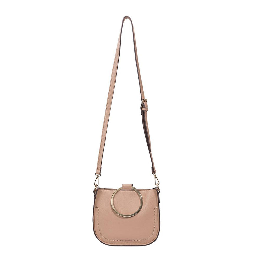 Melie Bianco Terry Luxury Vegan Leather Top Handle in Taupe (4177139171379)