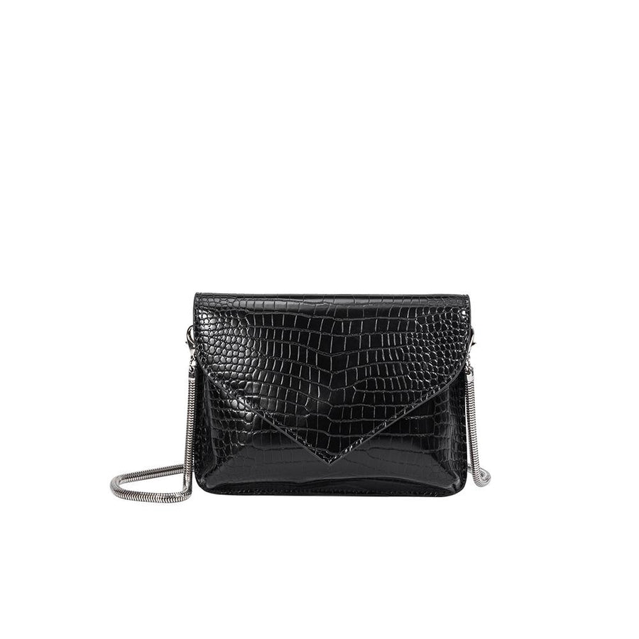 Melie Bianco Luxury Vegan Leather Anna Crossbody Bag in Black