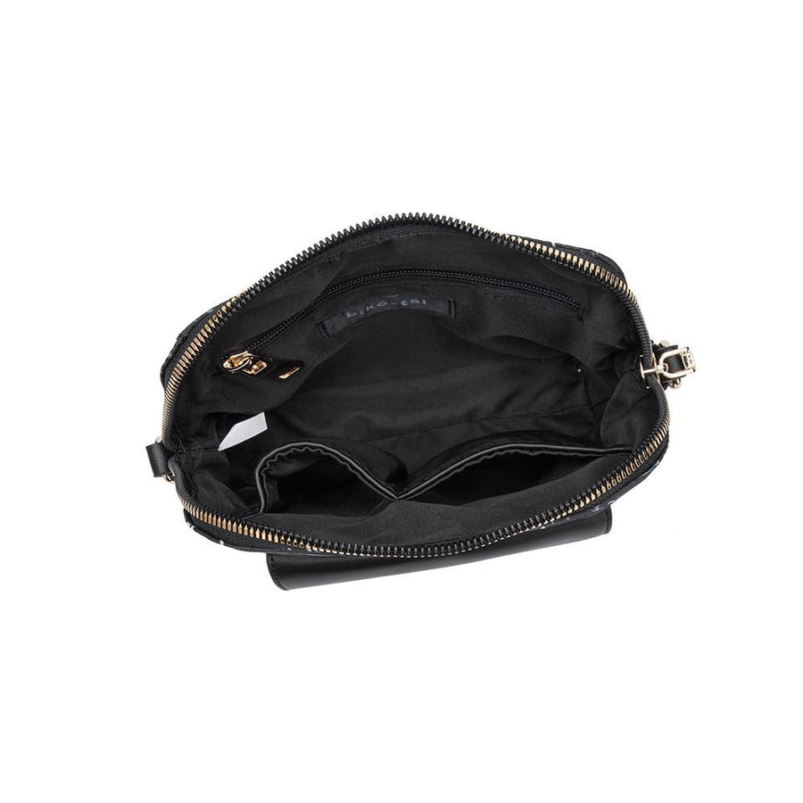 Melie Bianco Eco Friendly Nylon Black Travel Crossbody Bag Purse Pouch (469797896232)