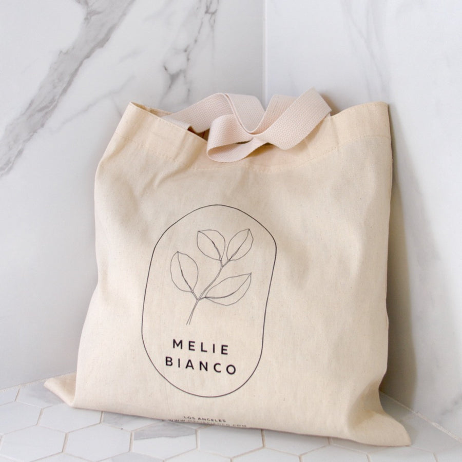 Melie Bianco Medium Organic Recycled Cotton Canva Tote Bag