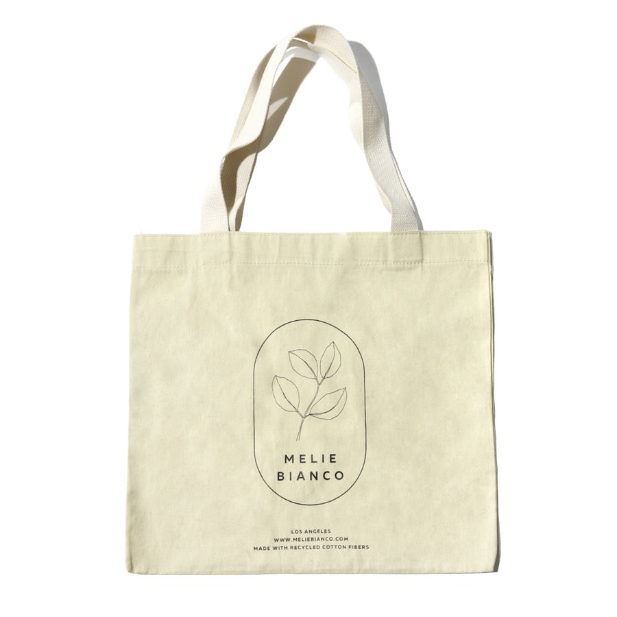 Melie Bianco Large Organic Recycled Cotton Canva Tote Bag
