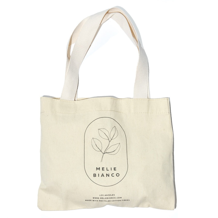 Melie Bianco Small Organic Recycled Cotton Canva Tote Bag