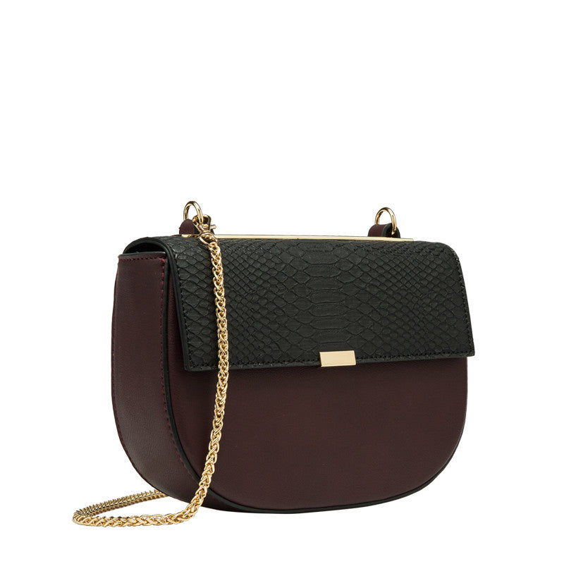 Iris Faux Snake Embossed Crossbody - Melie Bianco Handbags Accessories