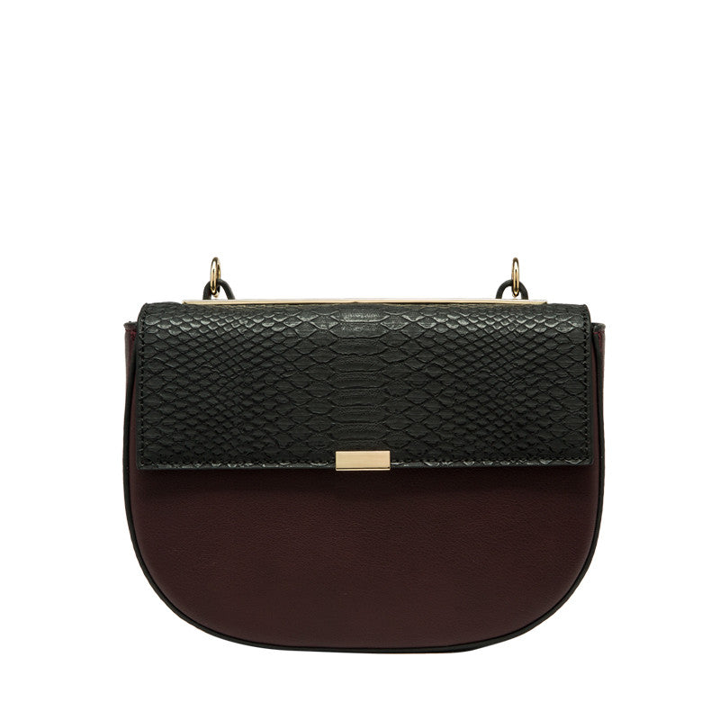 Iris Faux Snake Embossed Crossbody - Melie Bianco - 10