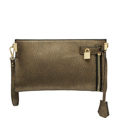 Misha Distressed Metallic Clutch - Melie Bianco Handbags Accessories