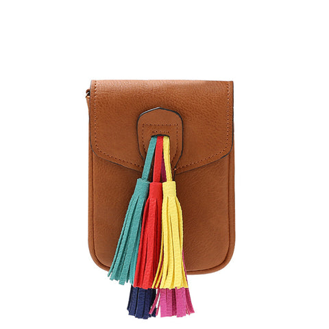 Kai Small Multi Colored Tassel Crossbody