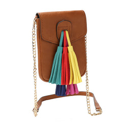 Kai Small Multi Colored Tassel Crossbody - Melie Bianco - 4
