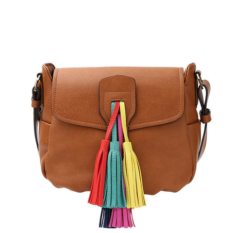 Tennessee Multi Colored Tassel Shoulder Bag