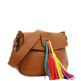 Tennessee Multi Colored Tassel Shoulder Bag - Melie Bianco - 5