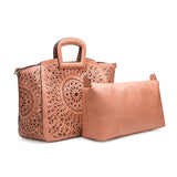 Nancy Blush Laser Cut Out Tote