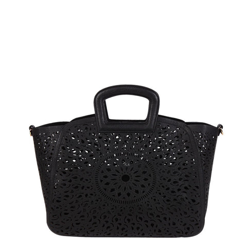 Nancy Laser Cut Out Tote