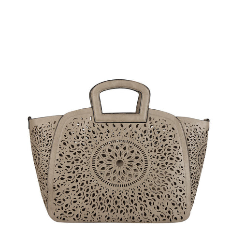 Nancy Laser Cut Out Tote - Melie Bianco - 1