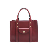 vegan, cruelty free, handbag, bag, purse, faux leather, animal friendly, sustainable fashion, shoulder bag, tote, crossbody, medium, large, gold hardware, burgundy, wine, red