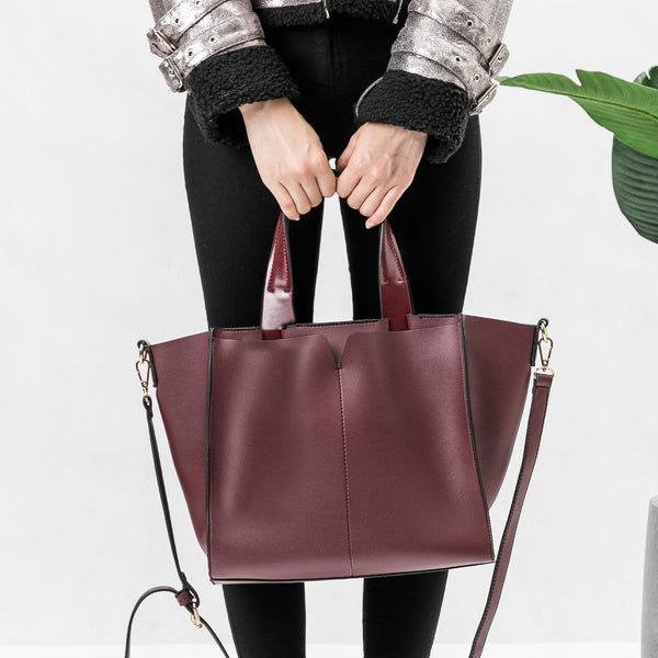Kylie Burgundy Shoulder Bag