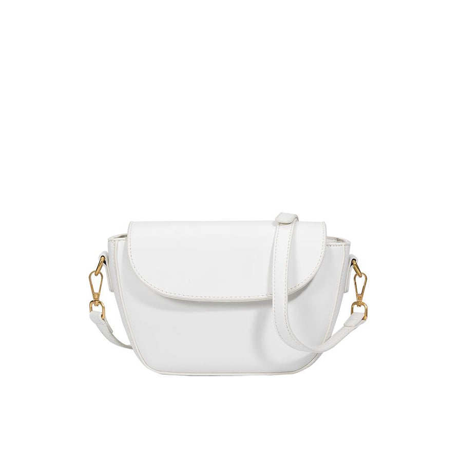 Melie Bianco Clarissa White Luxury Vegan Leather Top Handle Bag