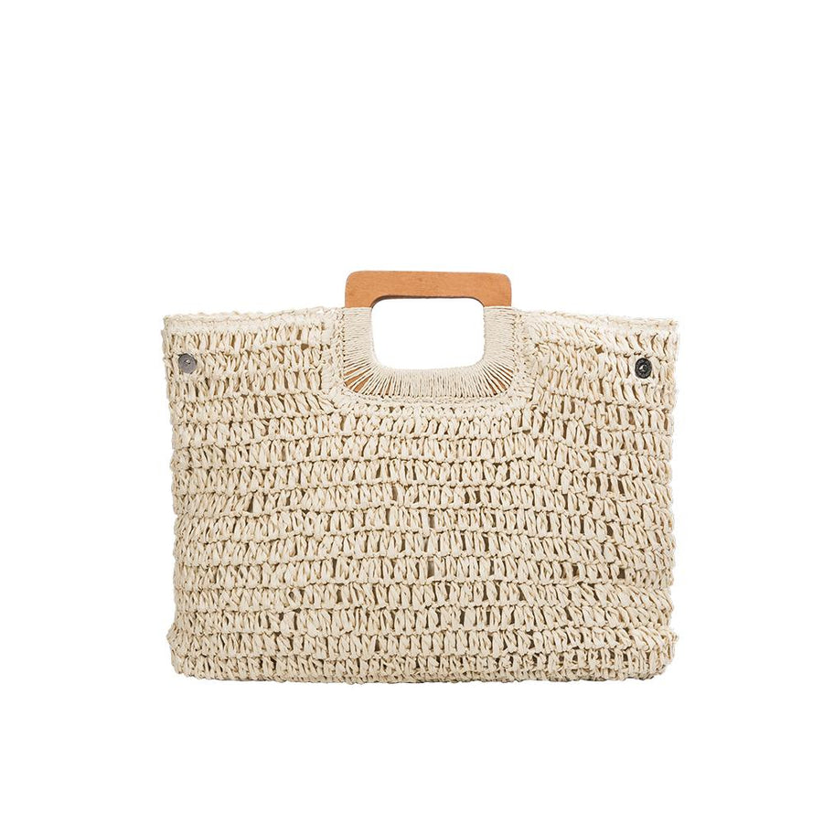 Melie Bianco Harley Natural Eco Friendly Straw Tote Bag