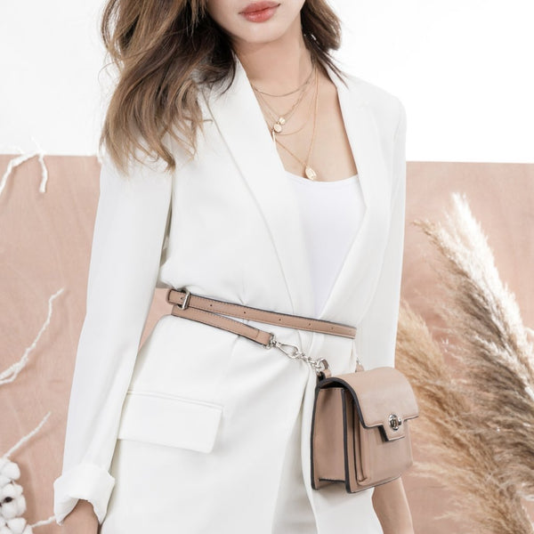 Lara Nude Convertible Crossbody