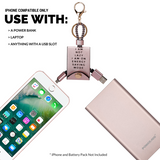 USB & iPhone Charger Rose Gold