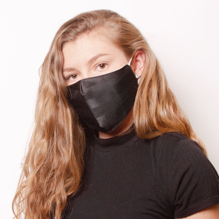 Face Mask Jacquard Black - FINAL SALE