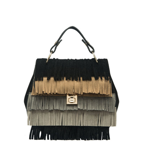 Meadow Multiple Colored Fringe Crossbody