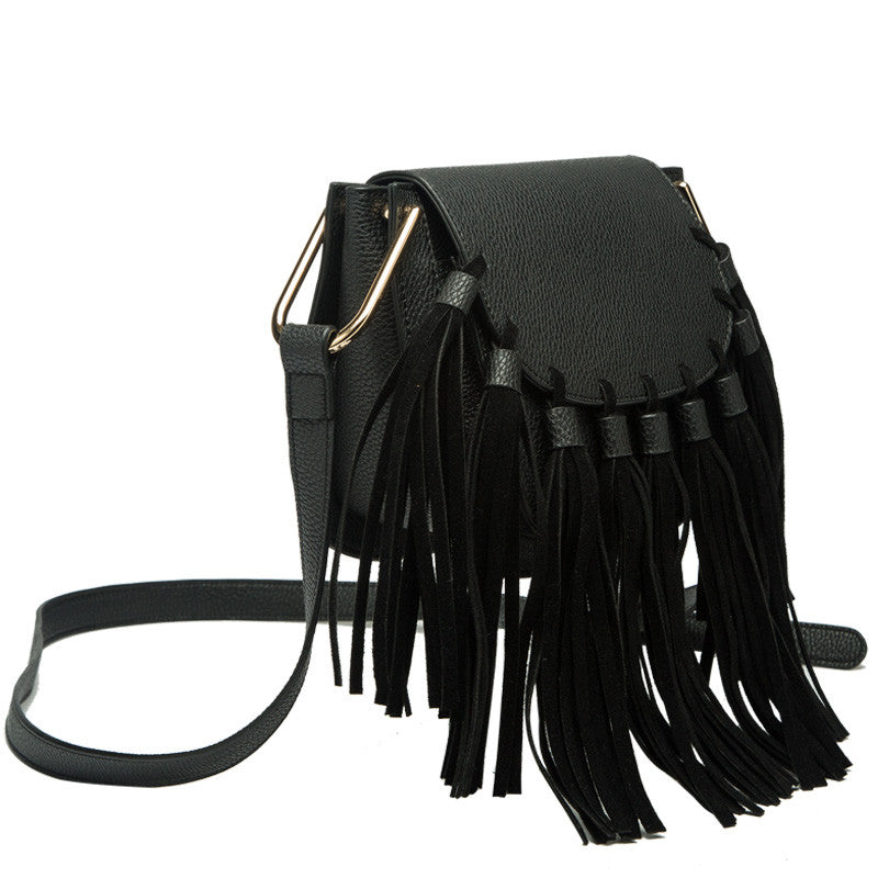 Blair Small Fringe Crossbody - Melie Bianco Handbags Accessories