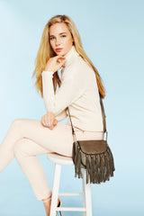 Blair Small Fringe Crossbody - Melie Bianco - 10