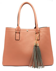 June Colorblock Large Tote - Melie Bianco Handbags Accessories