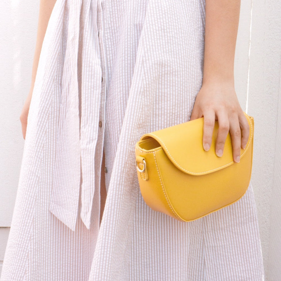 Clarissa Yellow Top Handle Bag - FINAL SALE