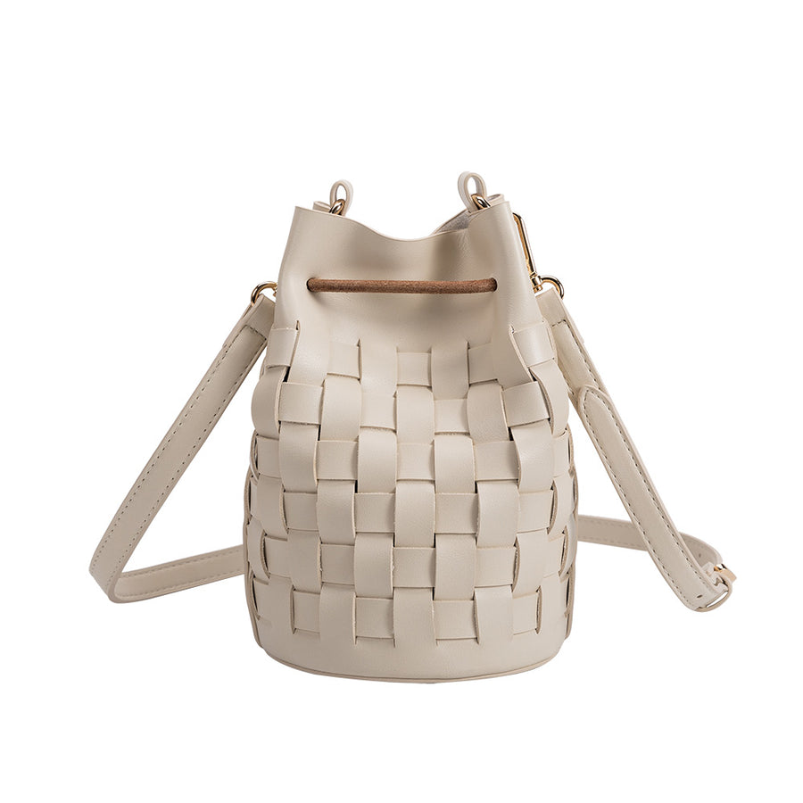 Melie Bianco Jody Luxury Vegan Leather Crossbody Bag in Bone