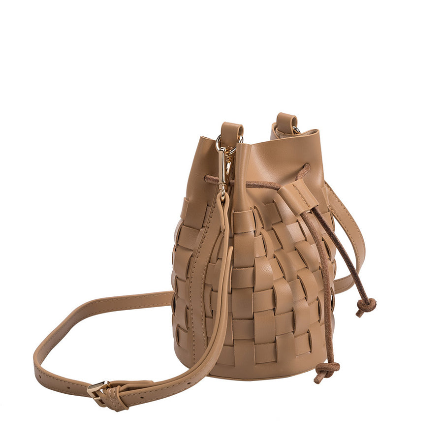 Melie Bianco Jody Luxury Vegan Leather Crossbody Bag in Nude