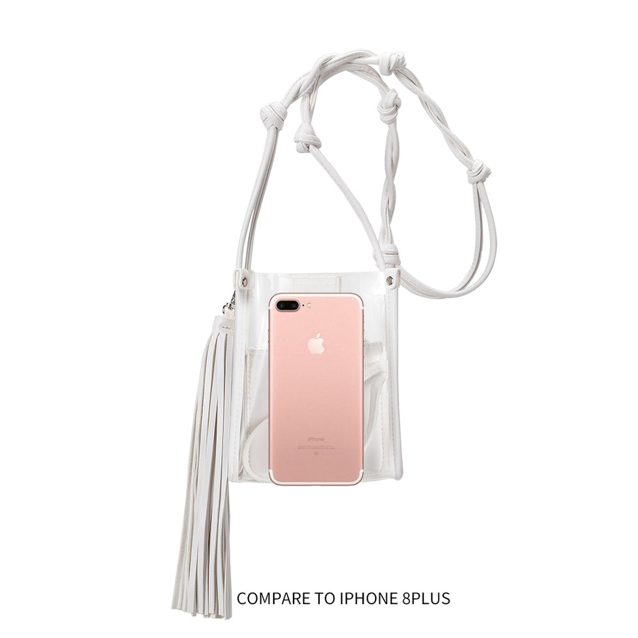 Melie Bianco Kristy Luxury Vegan Leather Crossbody in White