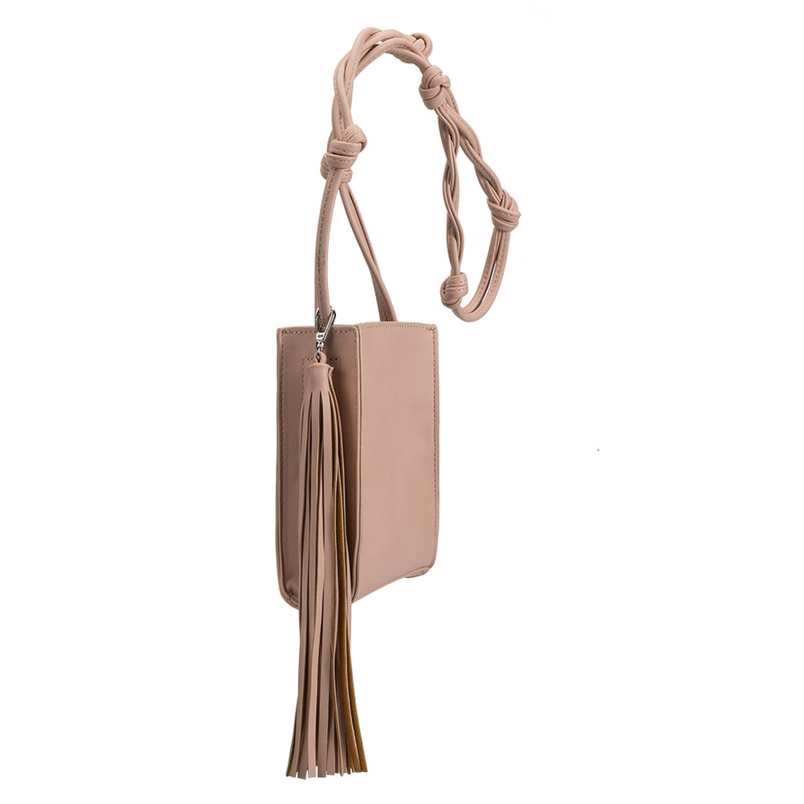 Melie Bianco Kristy Luxury Vegan Leather Crossbody in Blush
