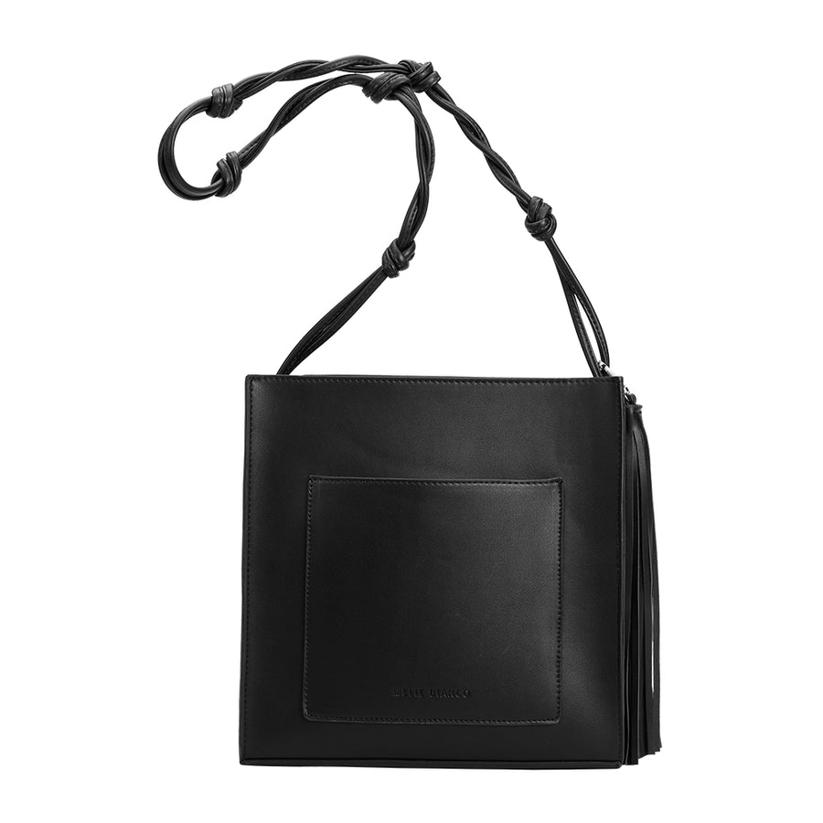 Melie Bianco Janice Large Luxury Vegan Leather Crossbody in Black