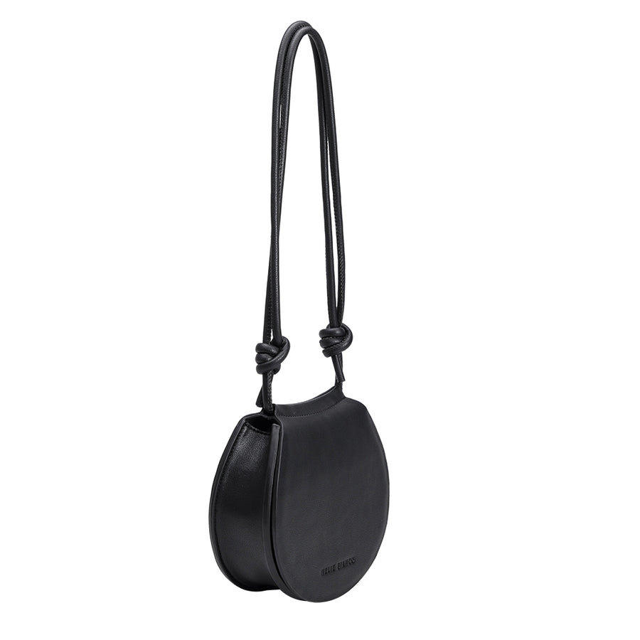 Melie Bianco Luxury Vegan Leather Kayla Crossbody Bag in Black