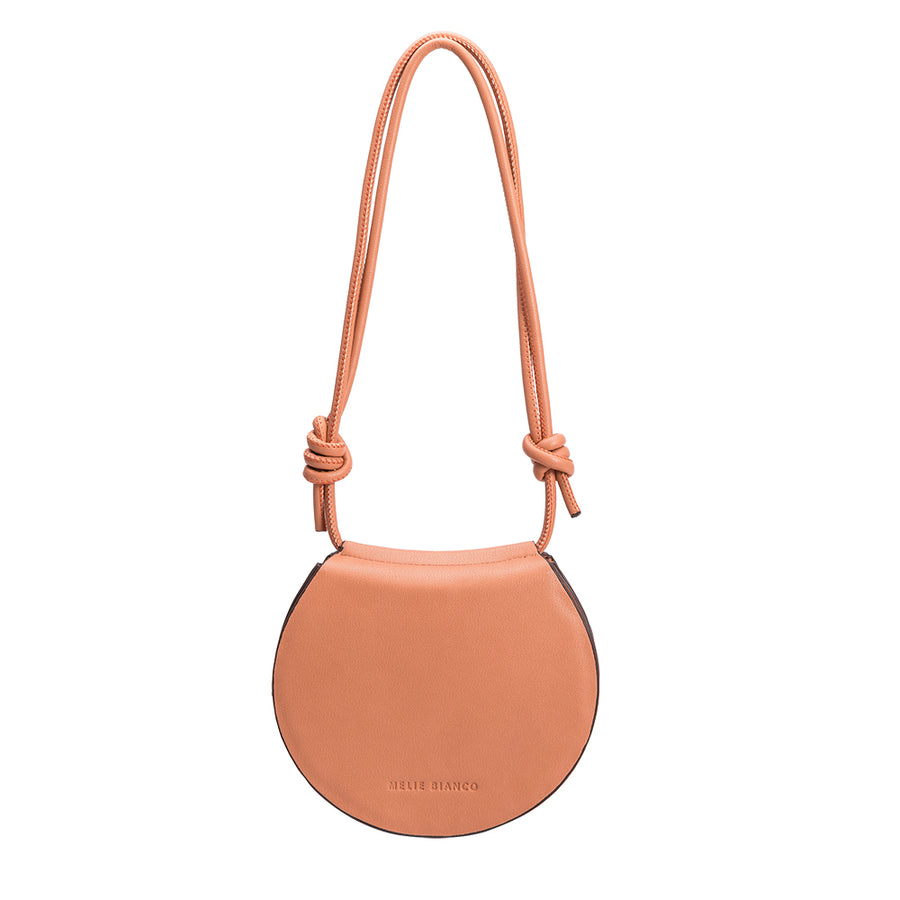 Melie Bianco Luxury Vegan Leather Kayla Crossbody in Peach