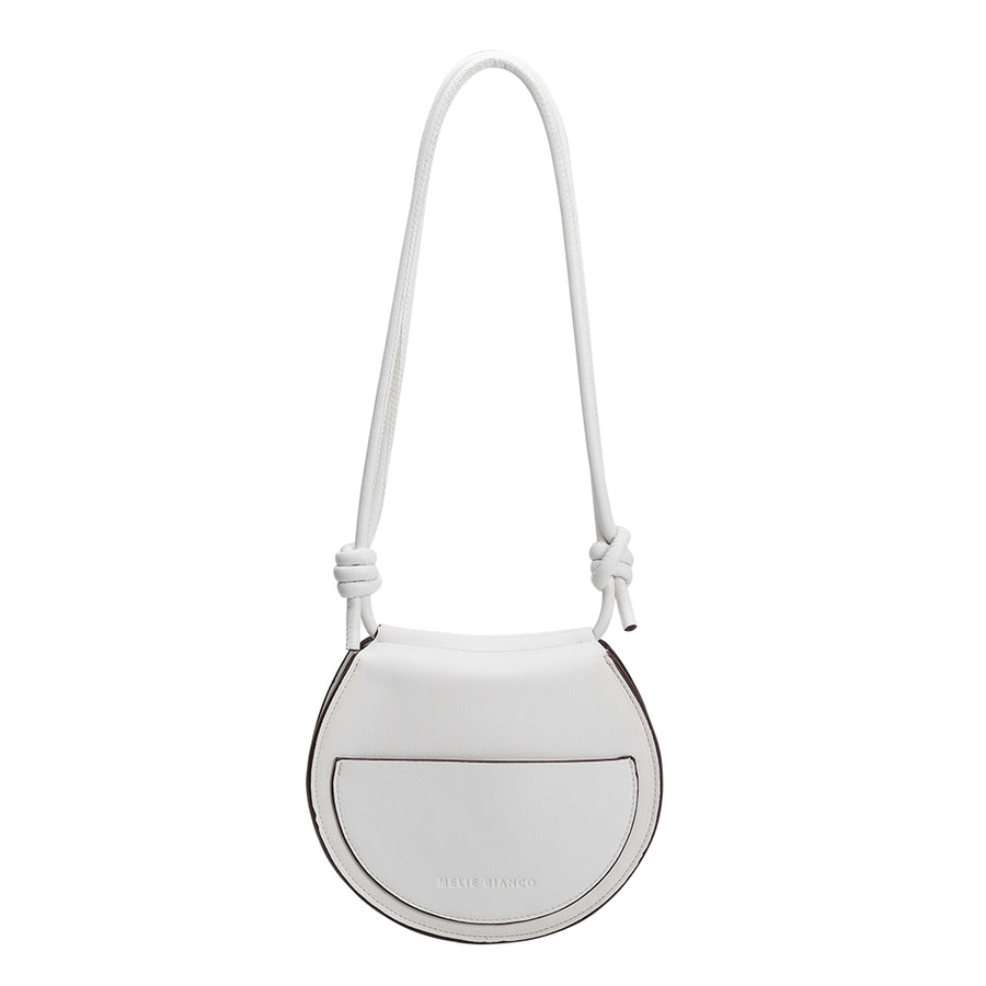 Melie Bianco Luxury Vegan Leather Kayla Crossbody in White